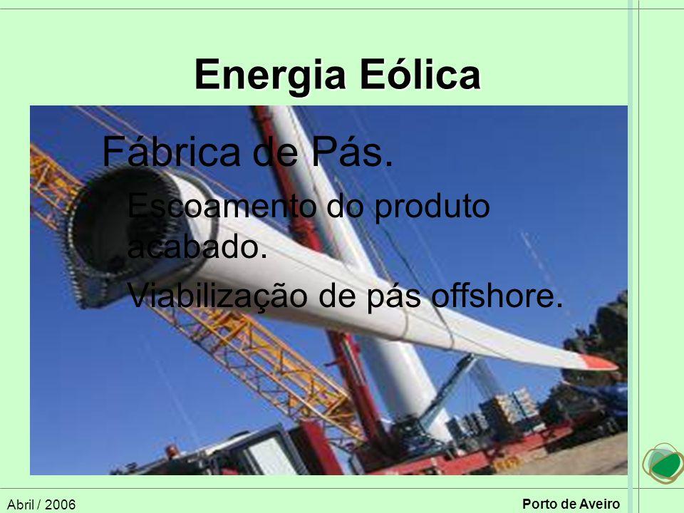 Energia Eólica Fábrica de Pás. Viabilização de pás offshore.