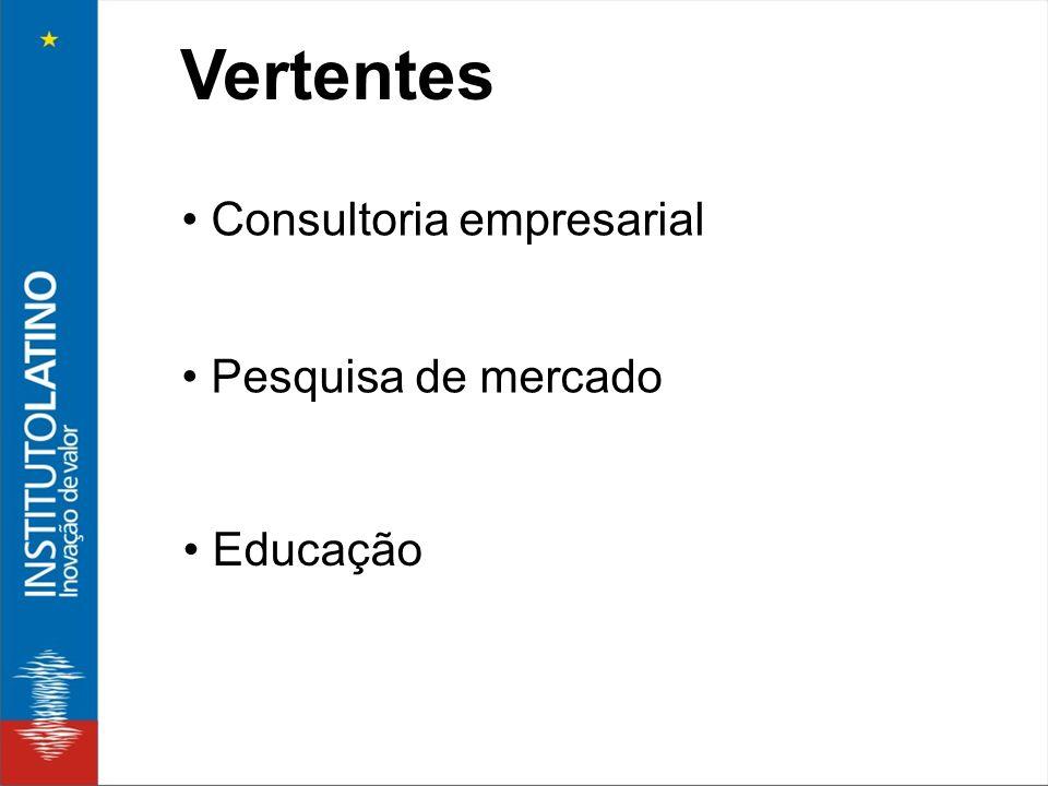 Vertentes • Consultoria empresarial • Pesquisa de mercado • Educação