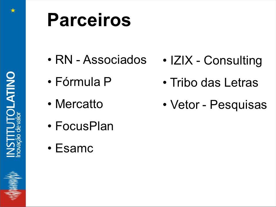 Parceiros • RN - Associados • IZIX - Consulting • Fórmula P
