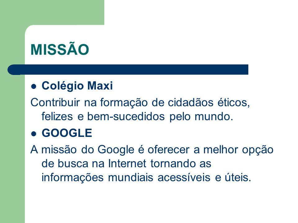 MISSÃO Colégio Maxi. Contribuir na formação de cidadãos éticos, felizes e bem-sucedidos pelo mundo.