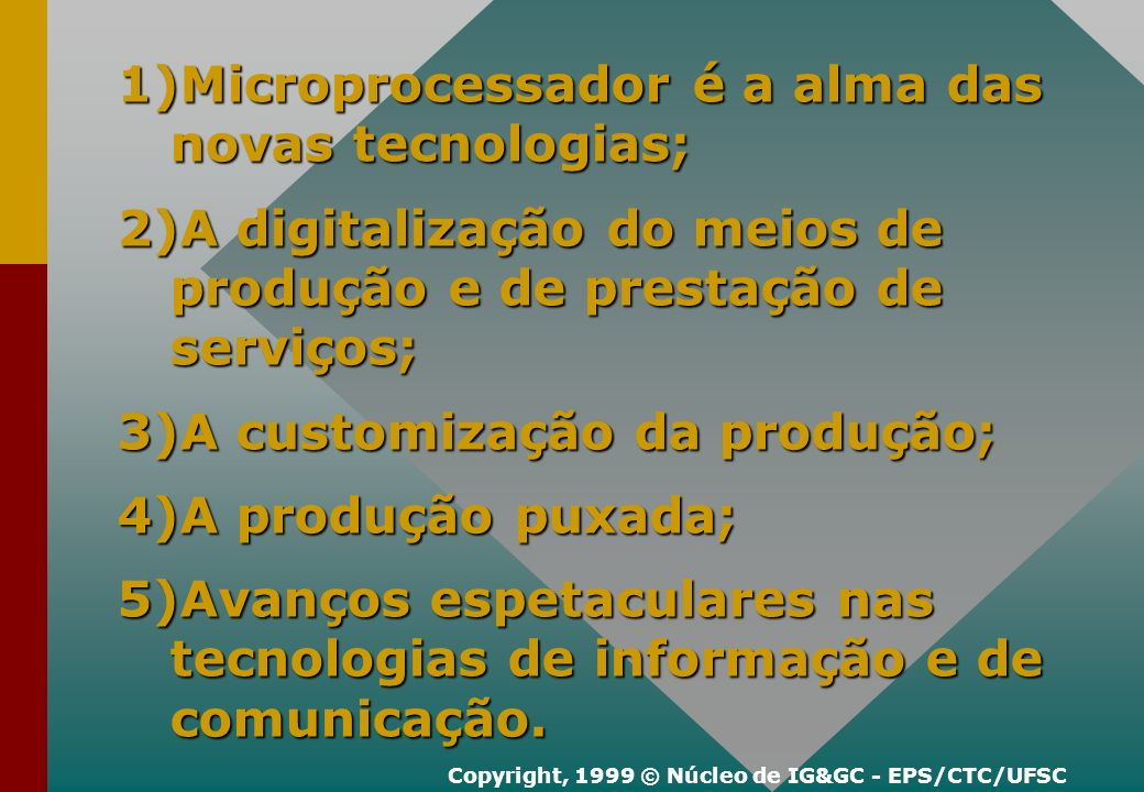 Copyright, 1999 © Núcleo de IG&GC - EPS/CTC/UFSC