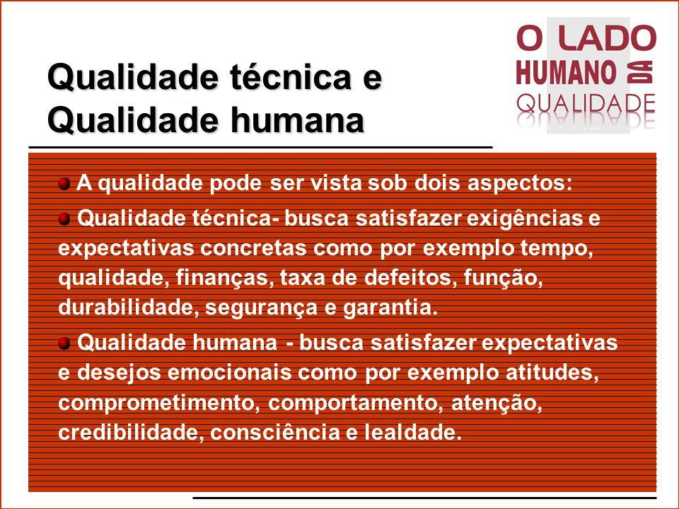 Qualidade técnica e Qualidade humana