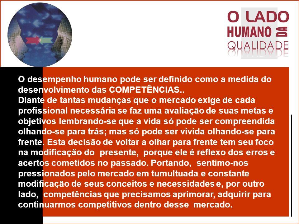 O desempenho humano pode ser definido como a medida do desenvolvimento das COMPETÊNCIAS..