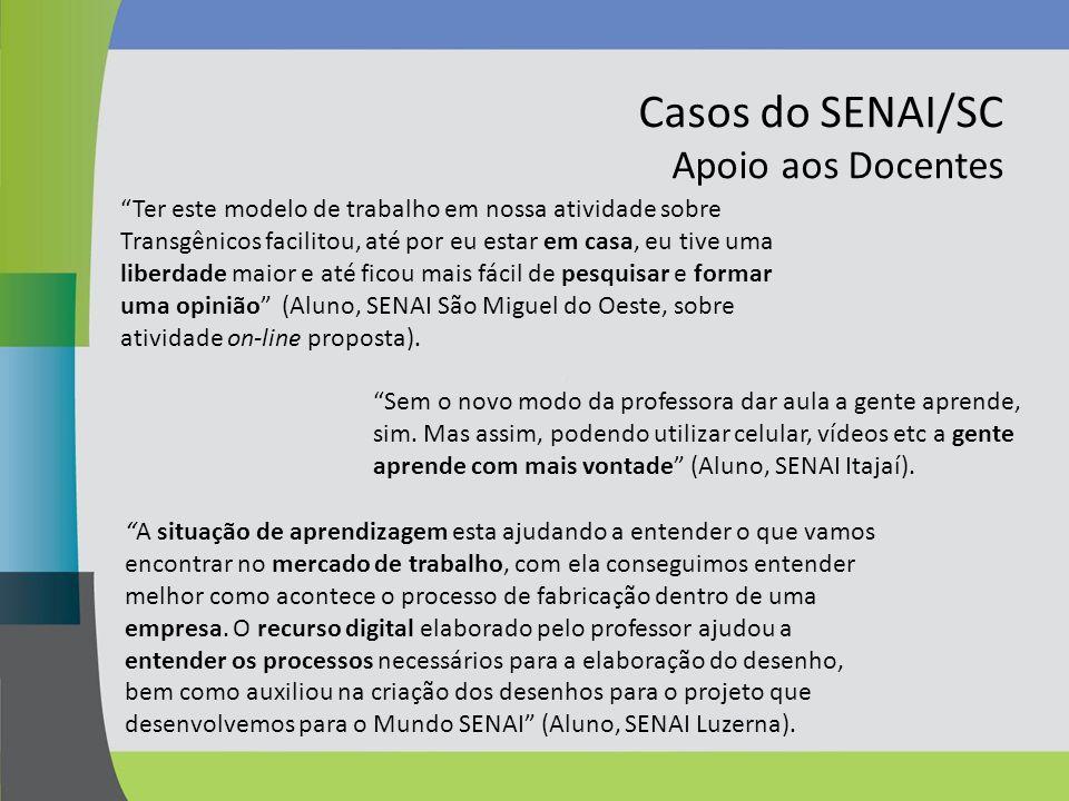 Casos do SENAI/SC Apoio aos Docentes