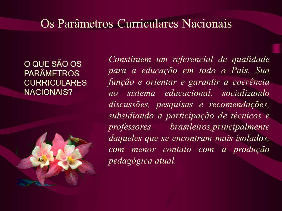 Os Parâmetros Curriculares Nacionais