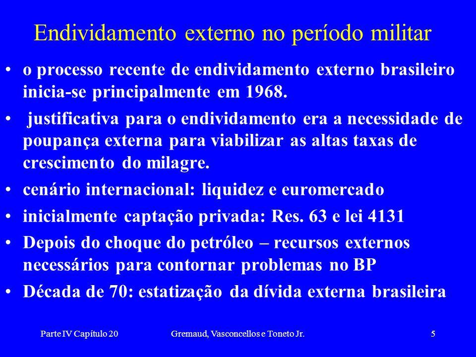 Endividamento externo no período militar