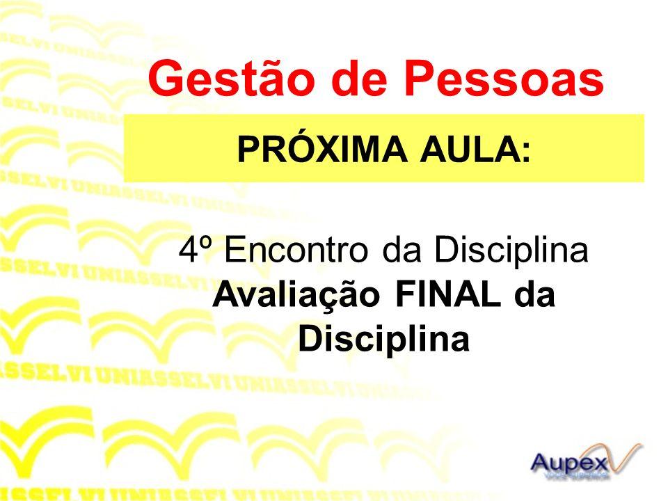 4º Encontro da Disciplina Avaliação FINAL da Disciplina
