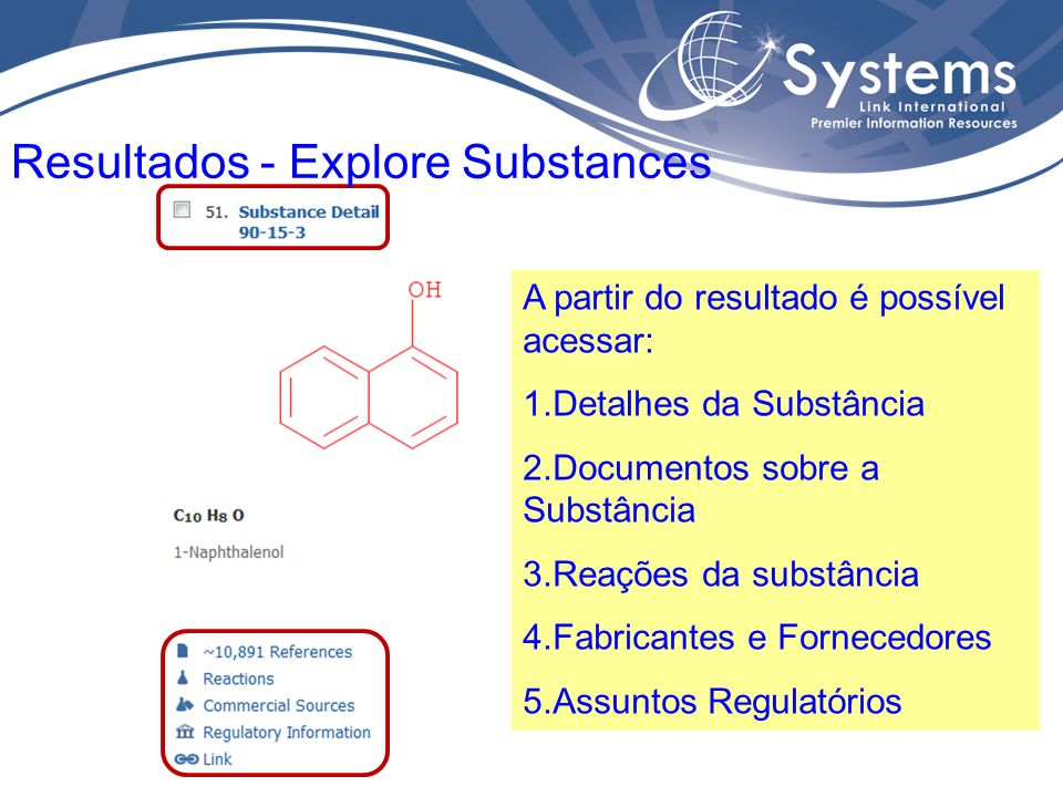 Resultados - Explore Substances