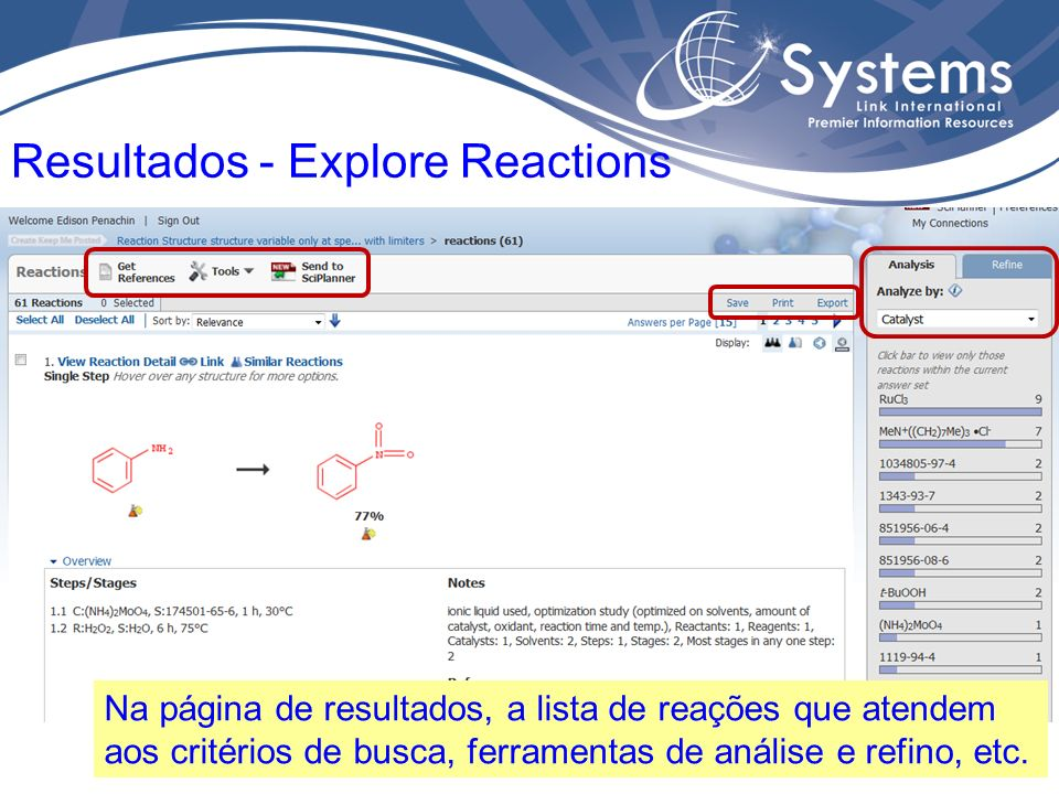 Resultados - Explore Reactions