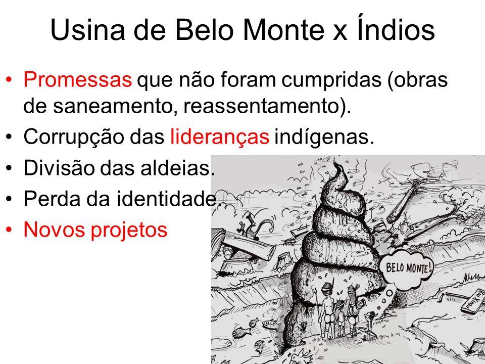 Usina de Belo Monte x Índios