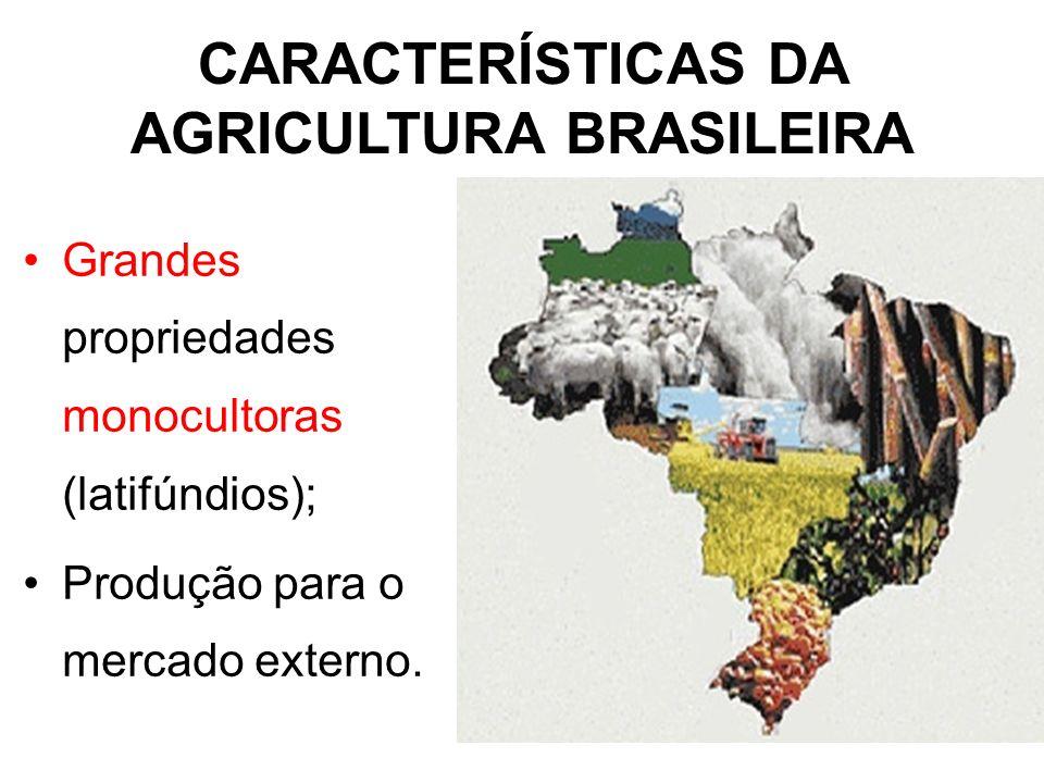 CARACTERÍSTICAS DA AGRICULTURA BRASILEIRA