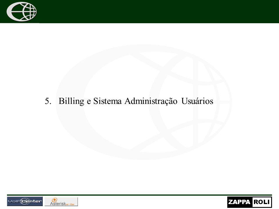 Billing e Sistema Administração Usuários
