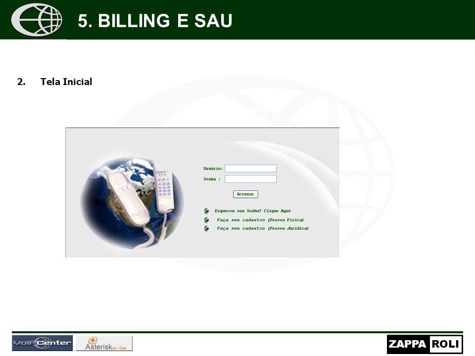5. BILLING E SAU Tela Inicial