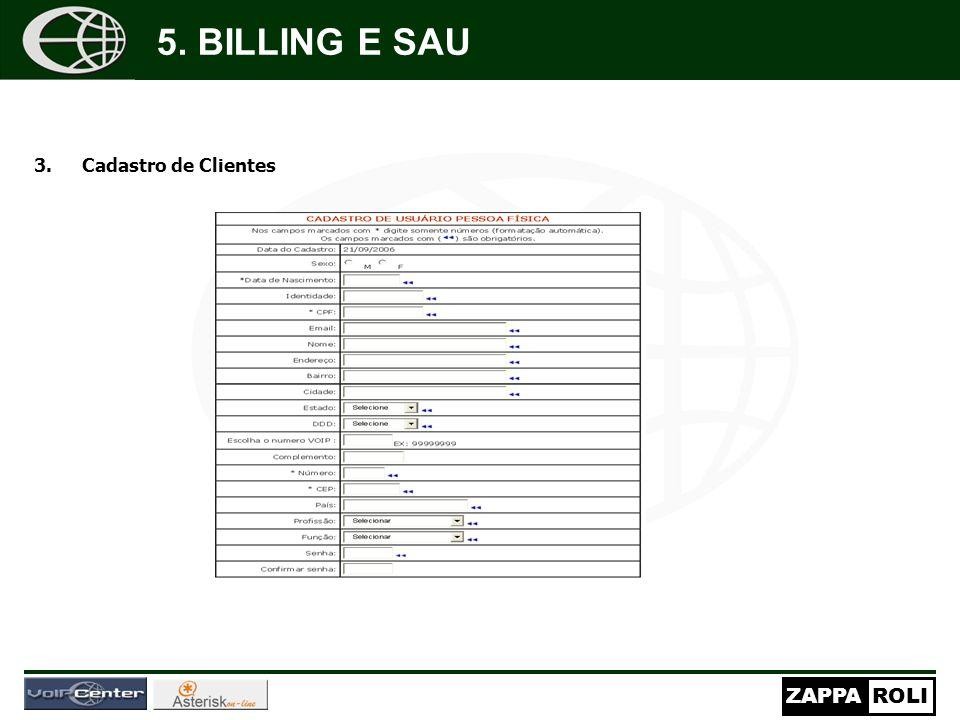 5. BILLING E SAU Cadastro de Clientes