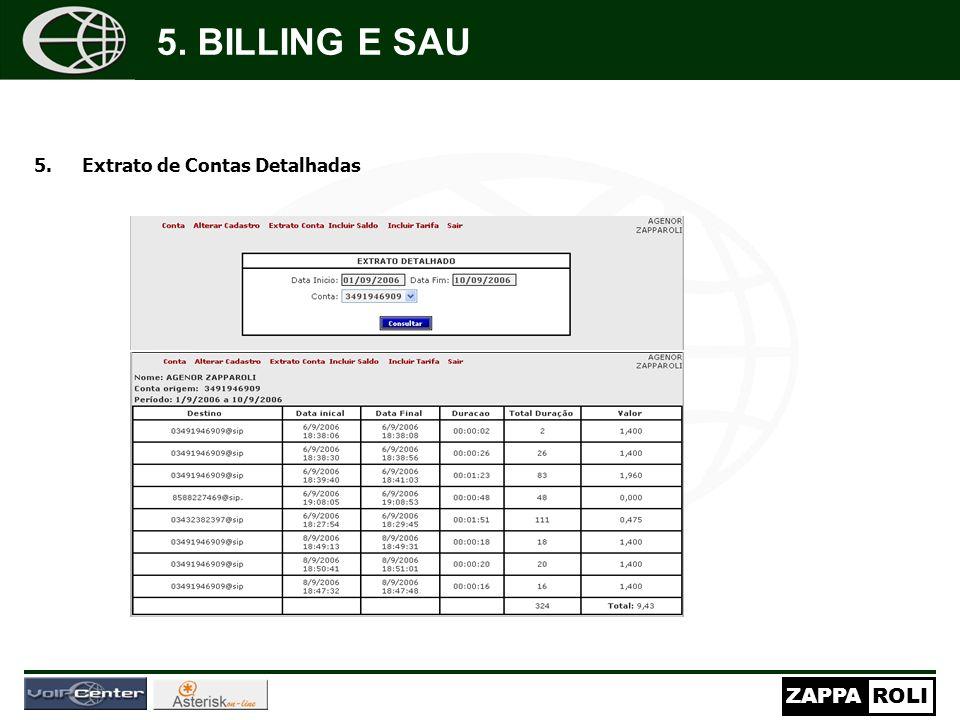 5. BILLING E SAU Extrato de Contas Detalhadas