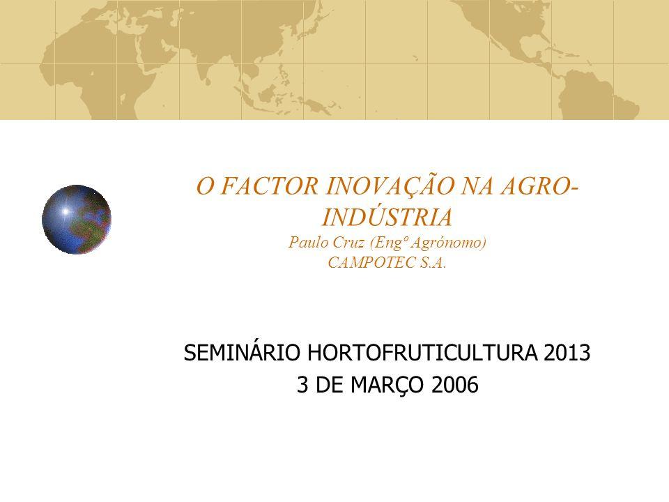 SEMINÁRIO HORTOFRUTICULTURA 2013 3 DE MARÇO 2006