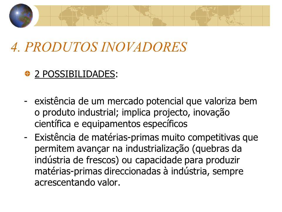 4. PRODUTOS INOVADORES 2 POSSIBILIDADES: