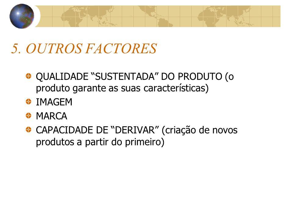 5. OUTROS FACTORES QUALIDADE SUSTENTADA DO PRODUTO (o produto garante as suas características) IMAGEM.