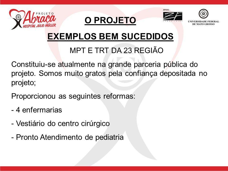 EXEMPLOS BEM SUCEDIDOS