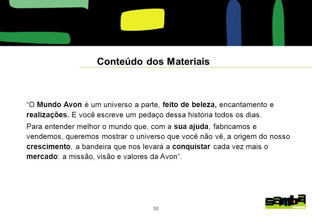 Conteúdo dos Materiais