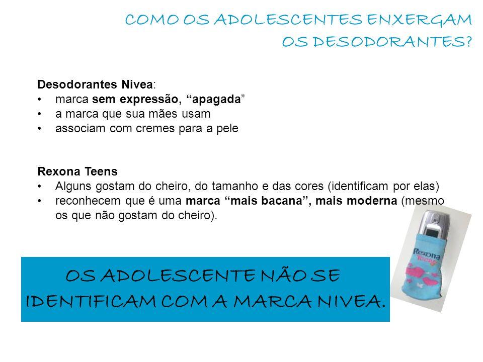 COMO OS ADOLESCENTES ENXERGAM OS DESODORANTES