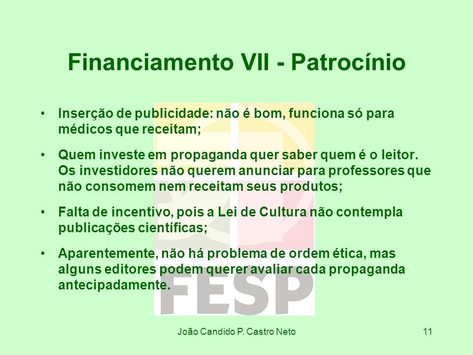 Financiamento VII - Patrocínio