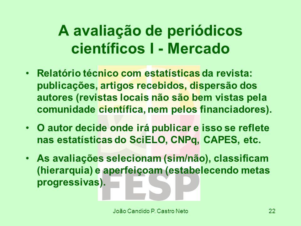 A avaliação de periódicos científicos I - Mercado