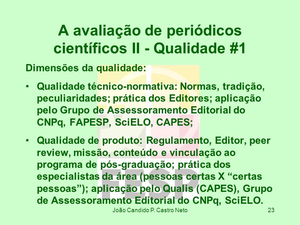 A avaliação de periódicos científicos II - Qualidade #1