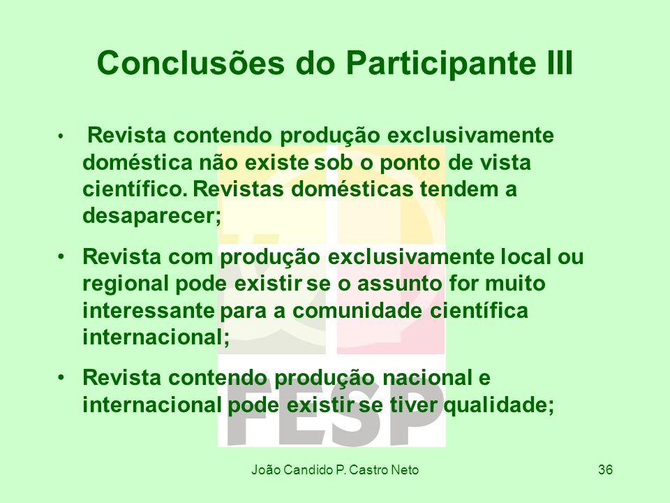 Conclusões do Participante III