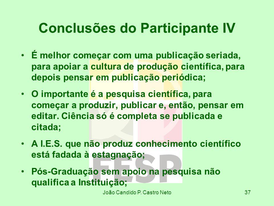 Conclusões do Participante IV