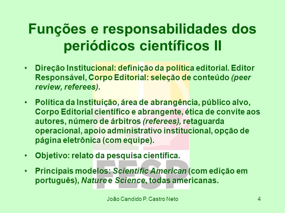 Funções e responsabilidades dos periódicos científicos II