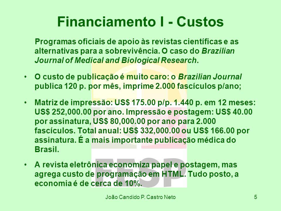 Financiamento I - Custos