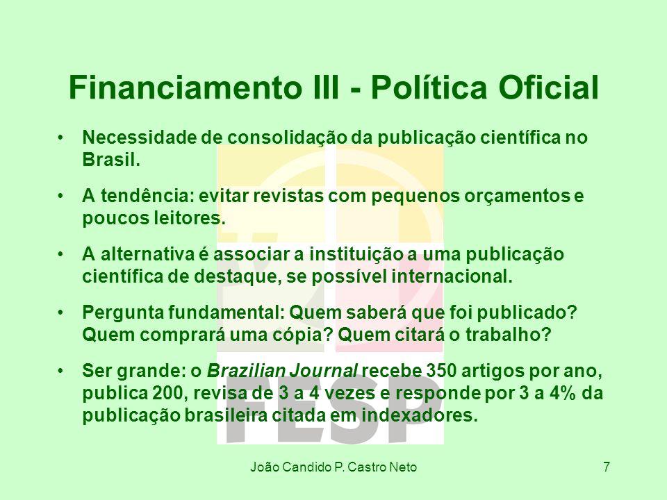 Financiamento III - Política Oficial