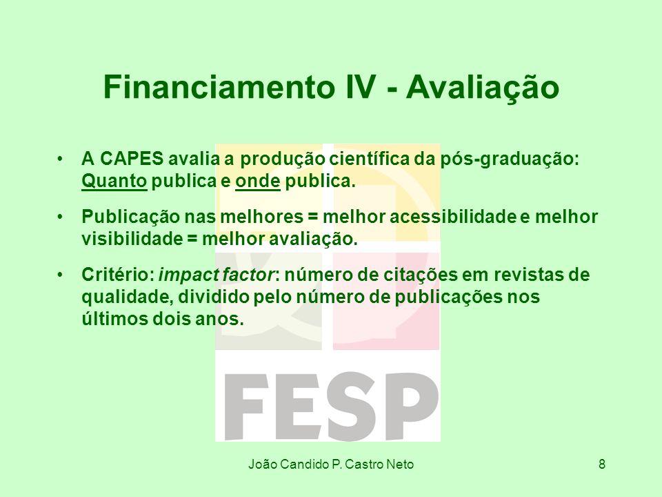 Financiamento IV - Avaliação
