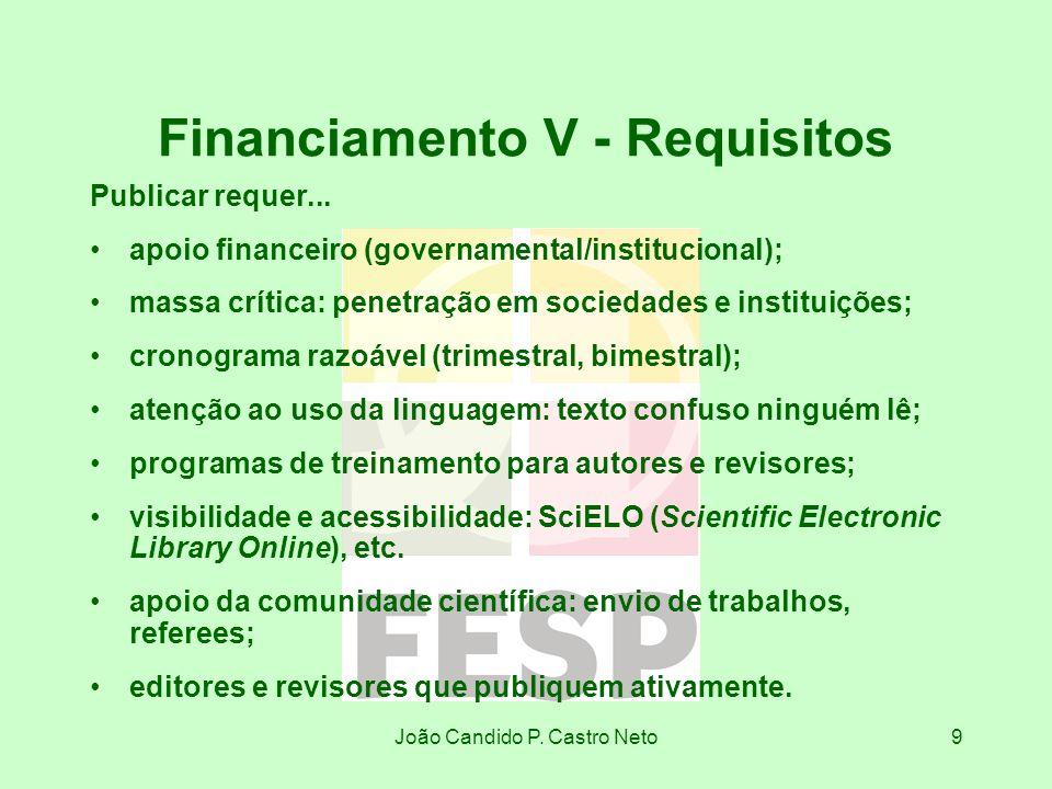 Financiamento V - Requisitos