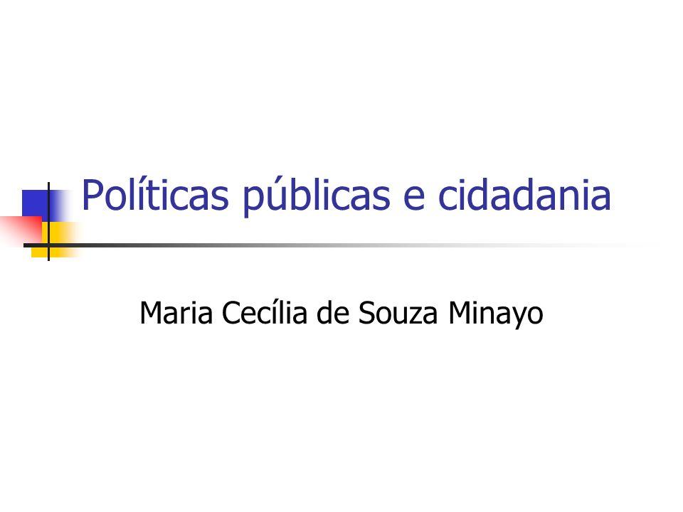 Políticas públicas e cidadania