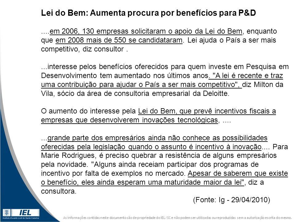 Lei do Bem: Aumenta procura por benefícios para P&D