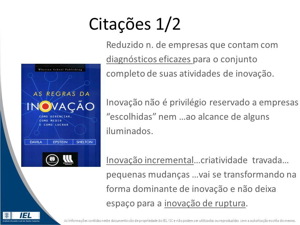 Citações 1/2 Reduzido n. de empresas que contam com
