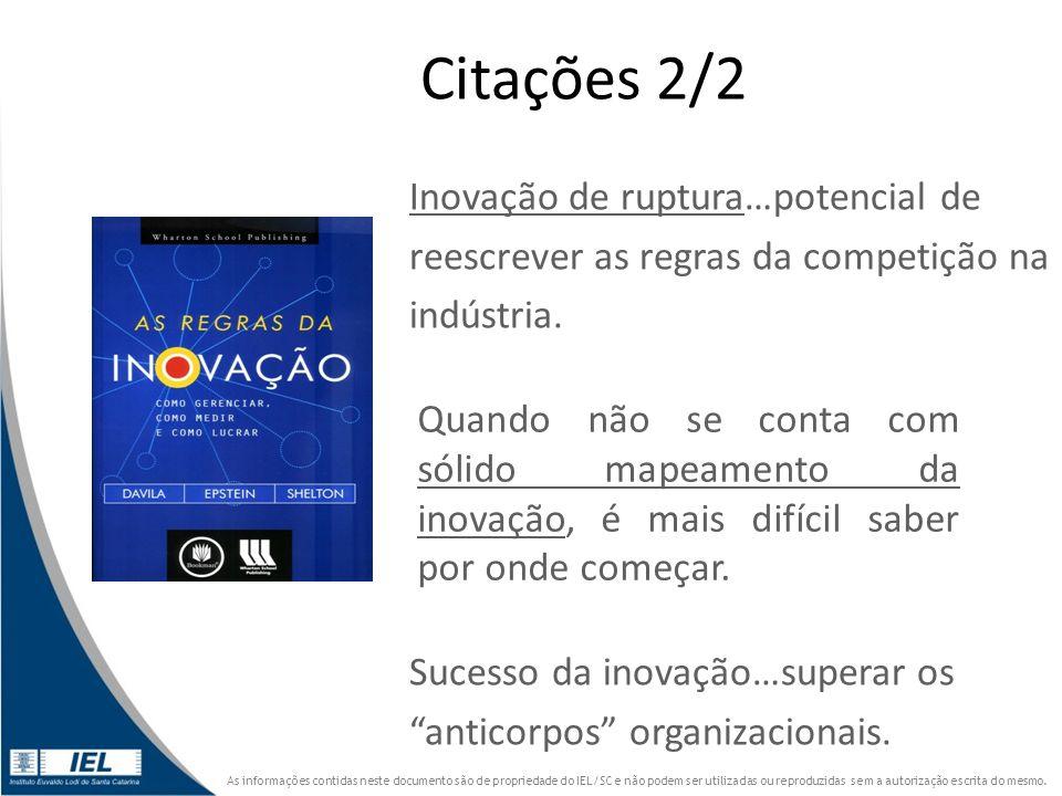 Citações 2/2 Inovação de ruptura…potencial de