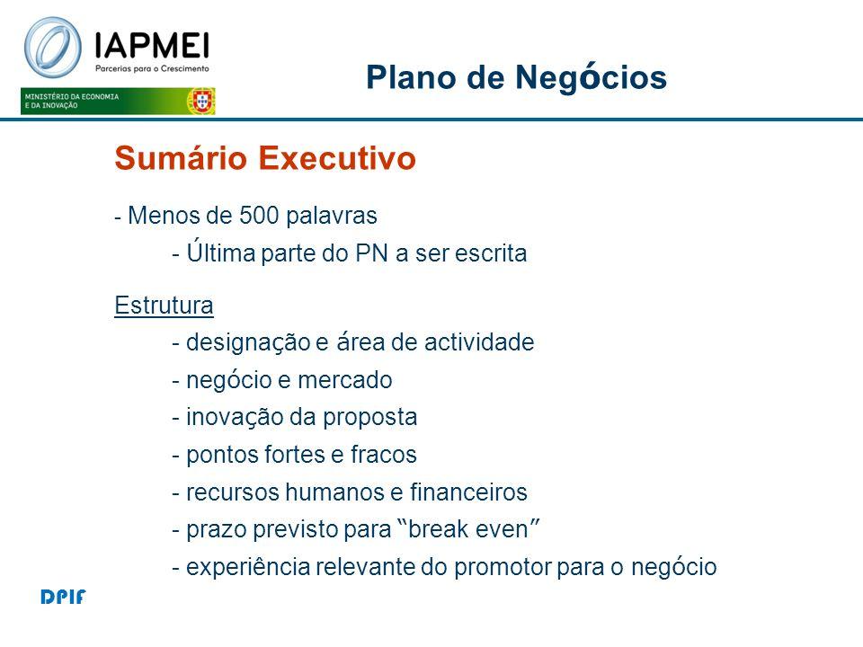 Plano de Negócios Sumário Executivo