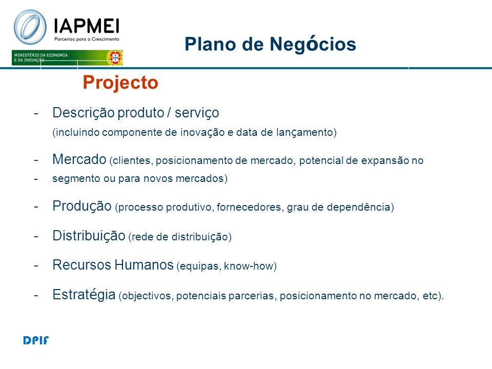 Projecto Plano de Negócios