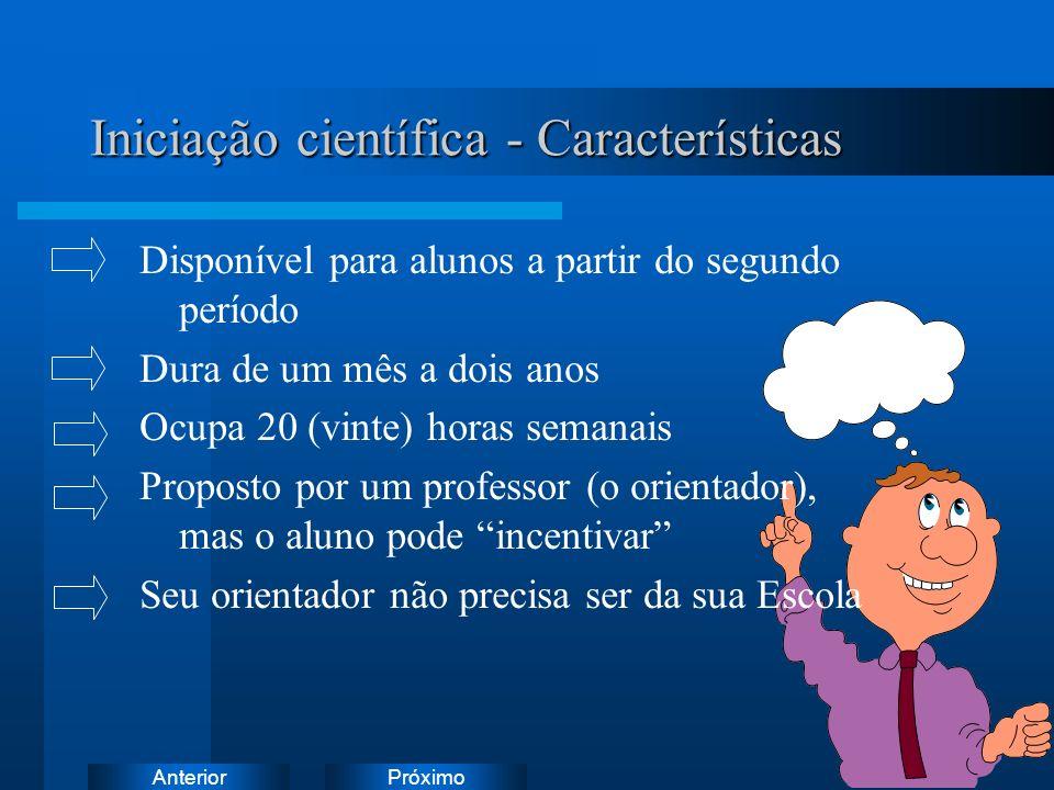 Iniciação científica - Características