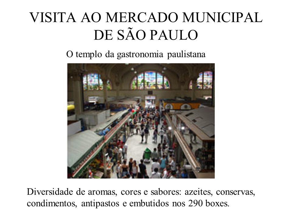 VISITA AO MERCADO MUNICIPAL DE SÃO PAULO