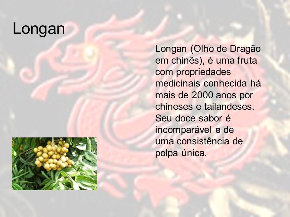 Longan Longan (Olho de Dragão em chinês), é uma fruta com propriedades medicinais conhecida há mais de 2000 anos por.