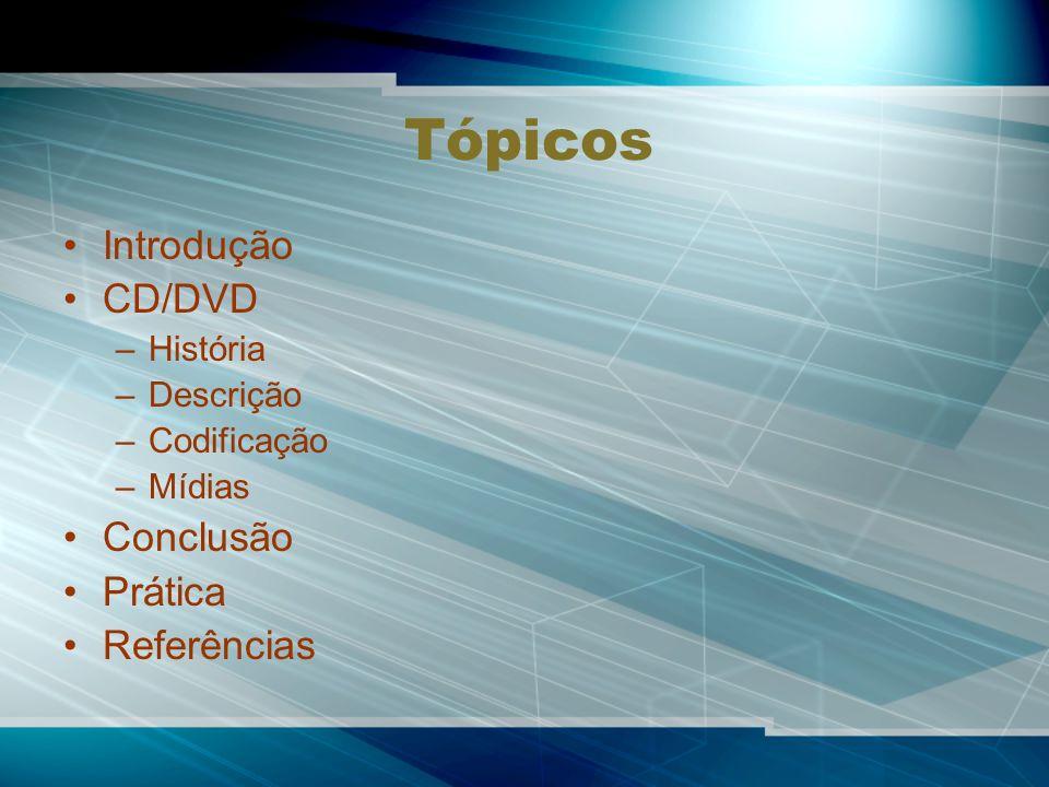 Tópicos Introdução CD/DVD Conclusão Prática Referências História