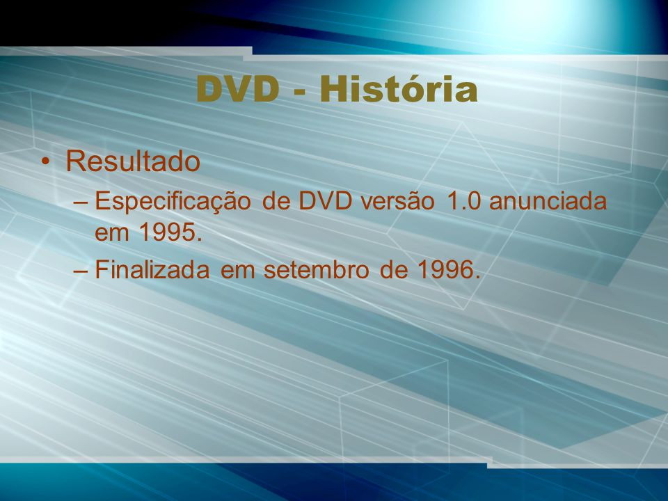 DVD - História Resultado