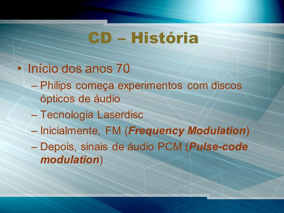 CD – História Início dos anos 70