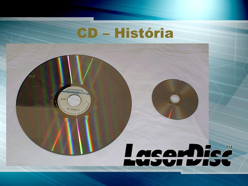CD – História Esquerda: Laserdisc Direita: DVD