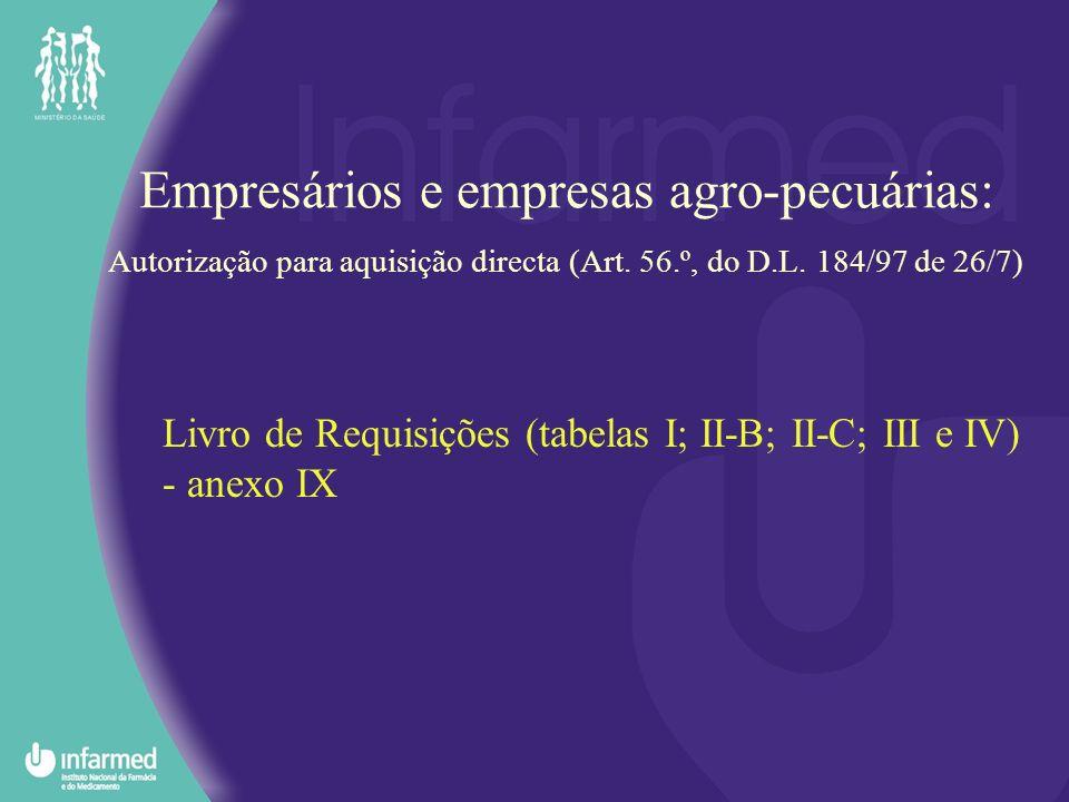 Livro de Requisições (tabelas I; II-B; II-C; III e IV) - anexo IX