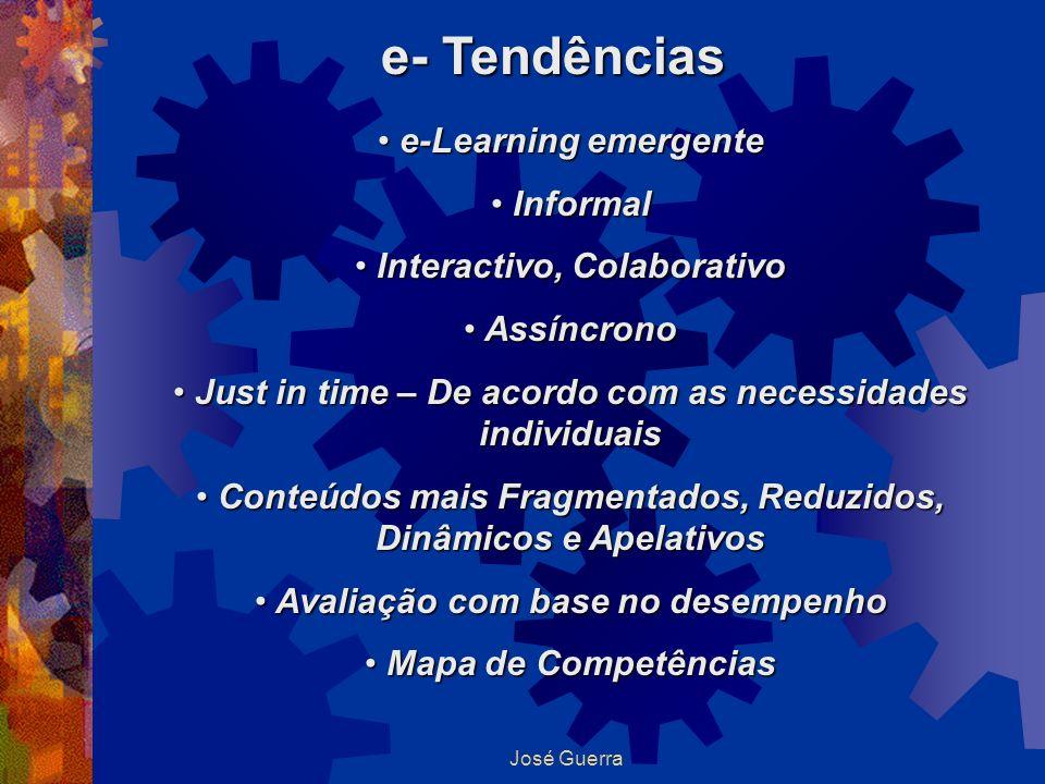 e- Tendências e-Learning emergente Informal Interactivo, Colaborativo